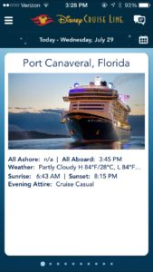 Disney Dream Embarkation Day