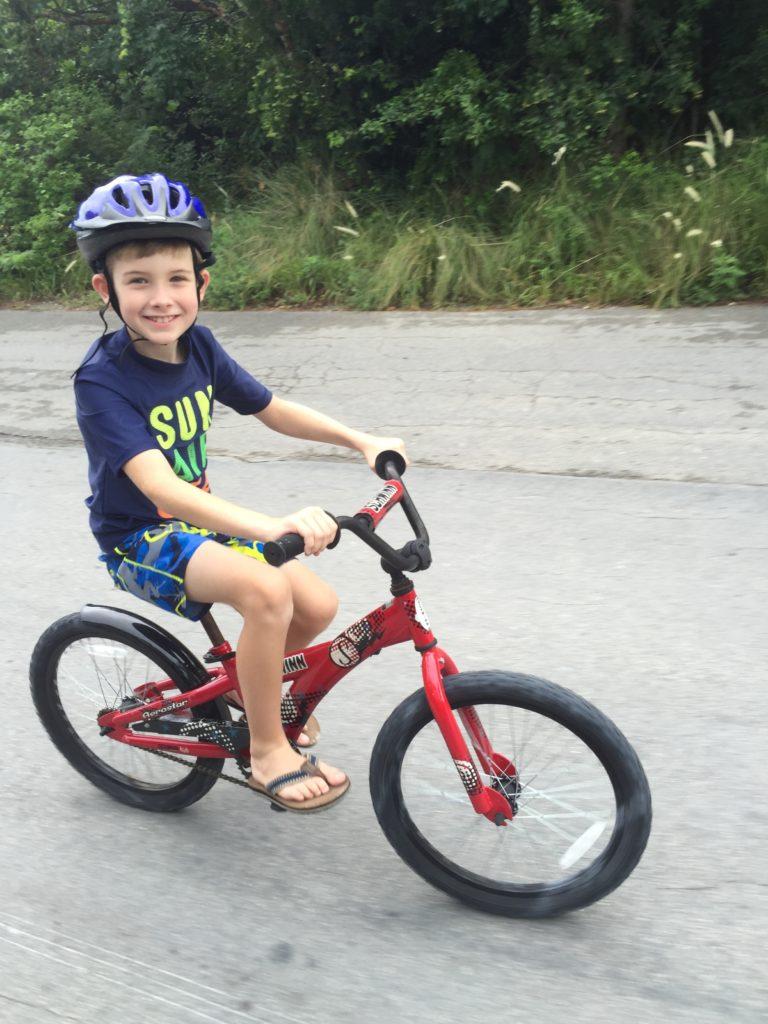 Hunter Biking at Castaway Cay