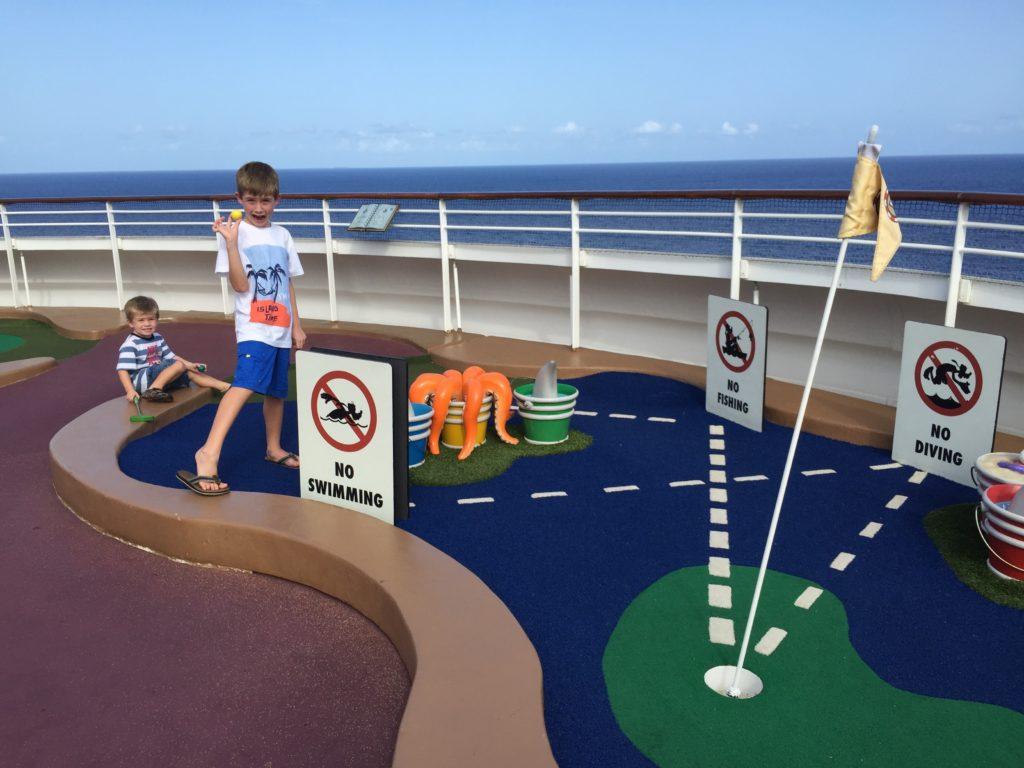 Disney Dream Cruise Ship Mini Golf