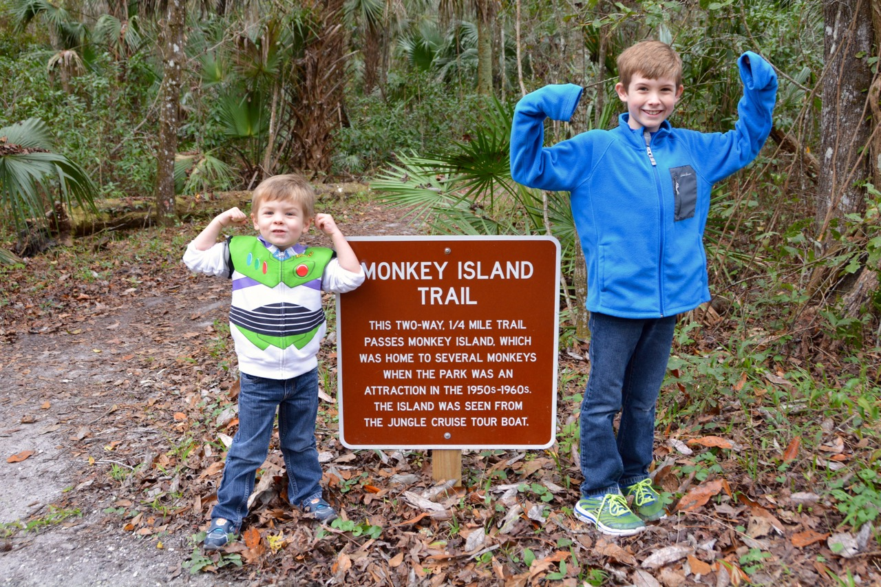 The Monkey Island Trail at the De Leon Spings State Park