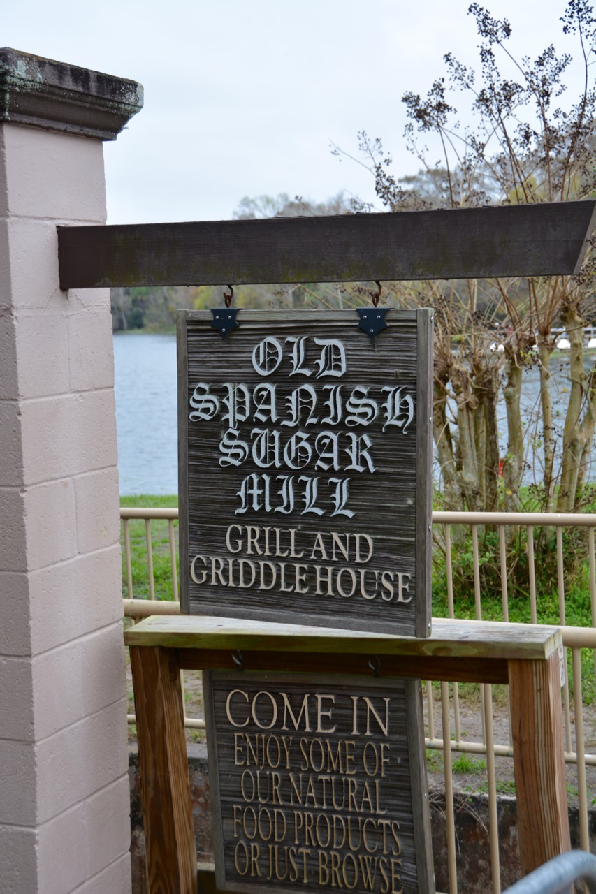 The Old Spanish Sugar Mill Sign De Leon Springs FL