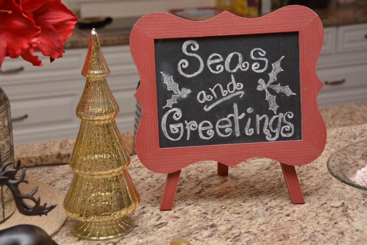 Seas and Greetings Holiday SIgn