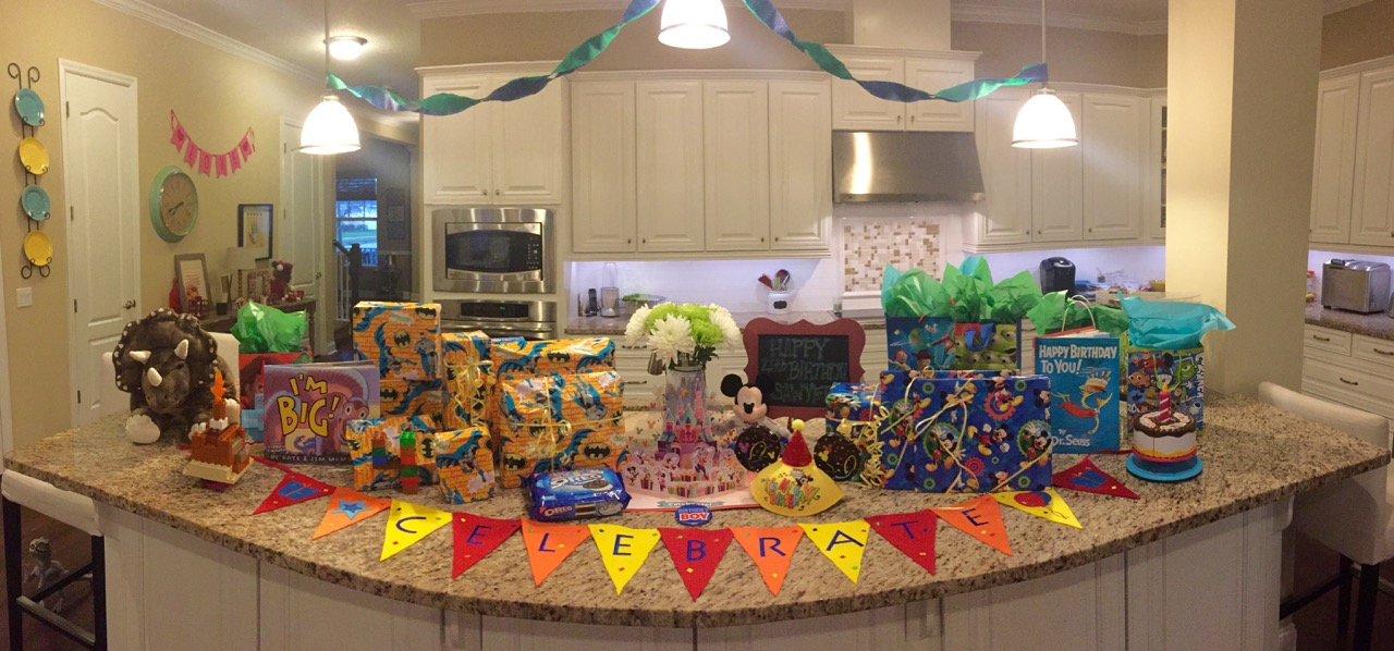 Sawyer's 4th Birthday Setup