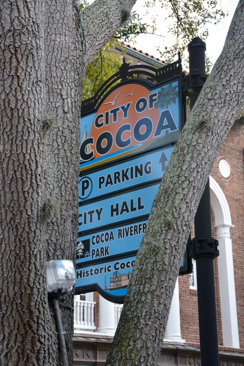 Cocoa Village Shopping Sign