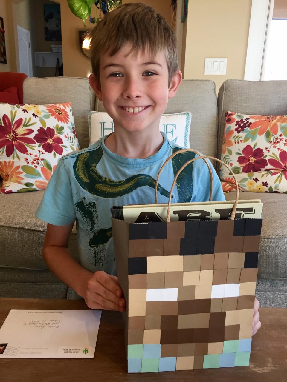 Minecraft Valentine's Bag