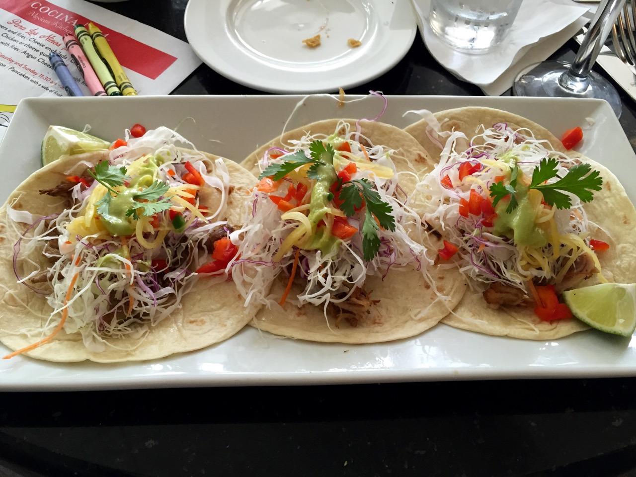 Pork Tacos Cocina 214 Mexican Kitchen Winter Park FL