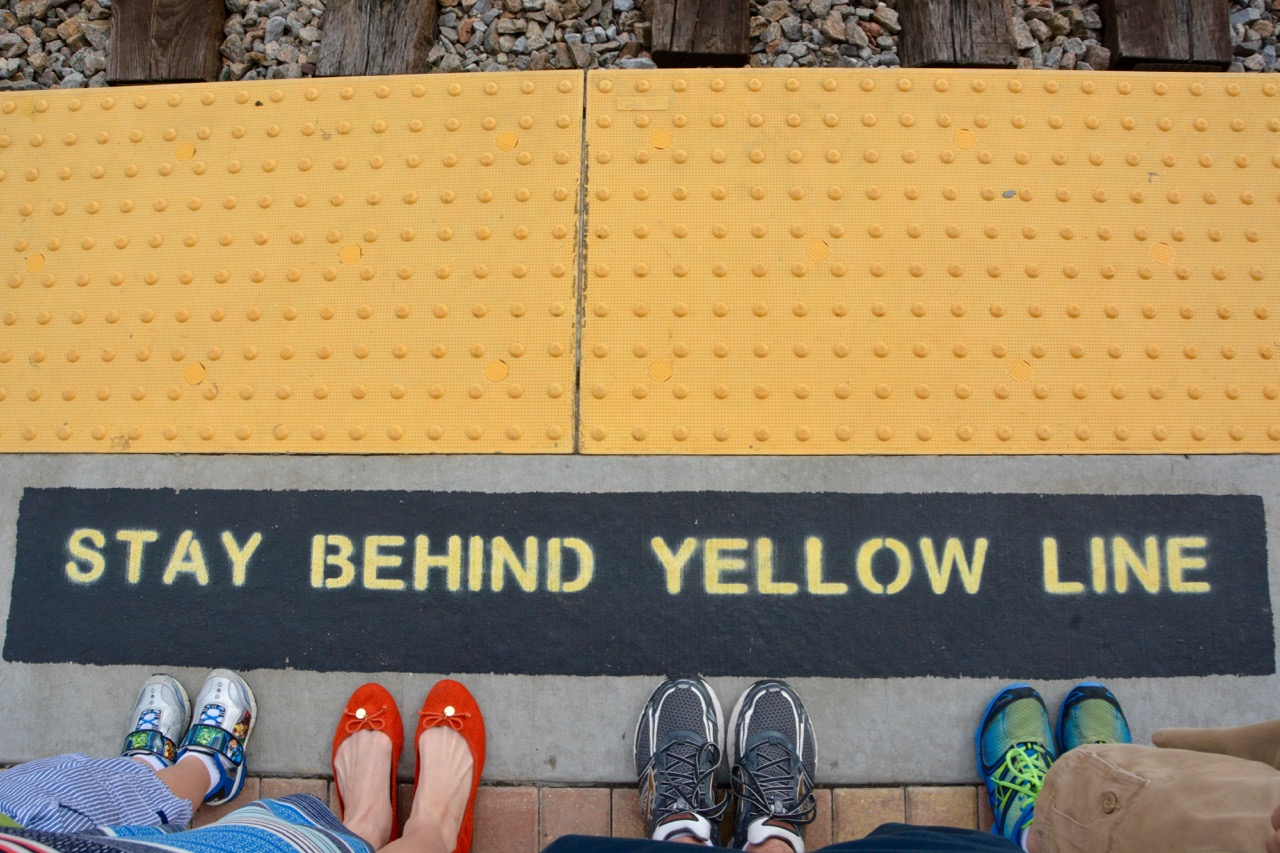 Stay Behind Yellow Line Sunrail