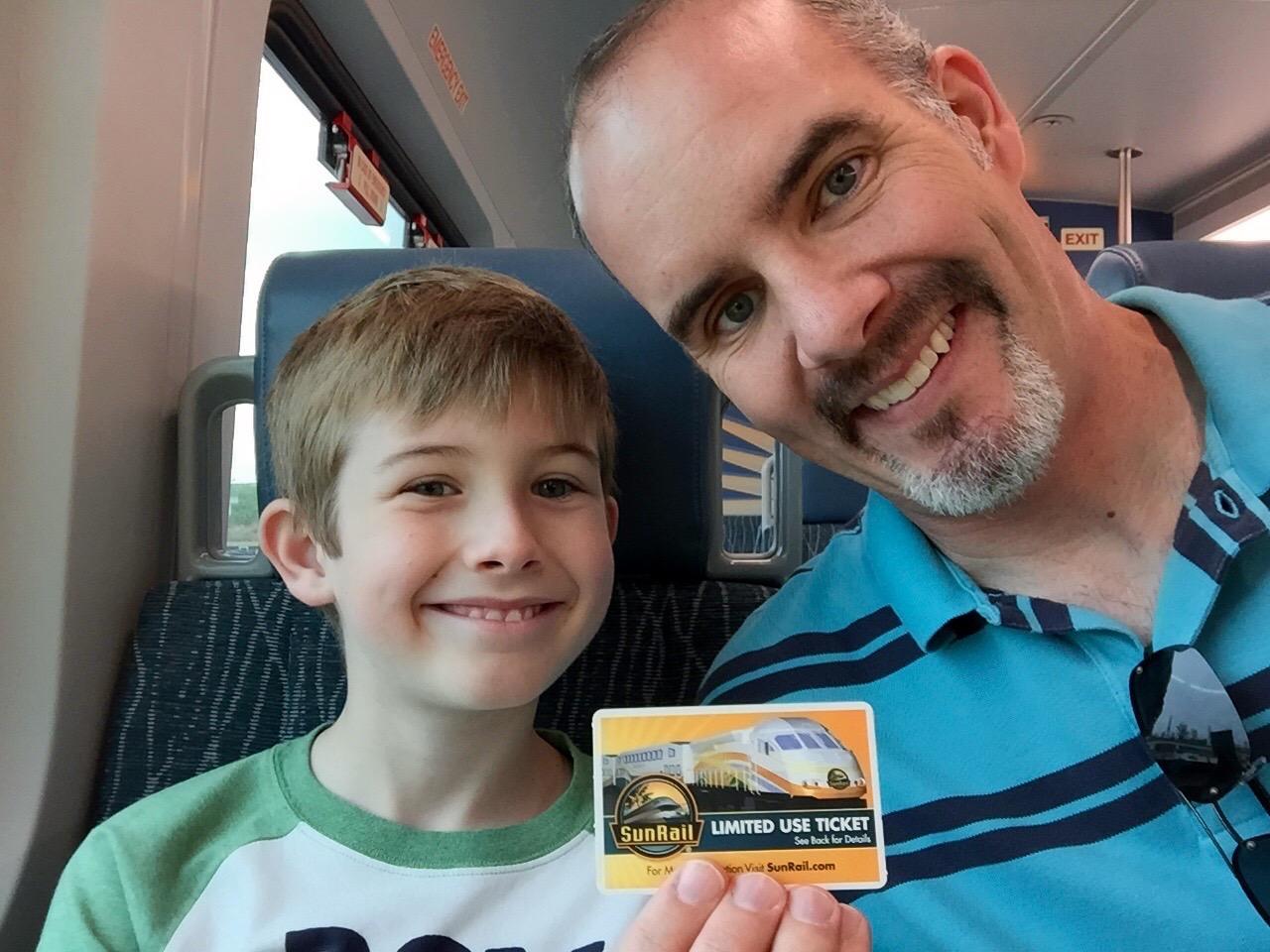 Sunrail Train Ticket to Ride