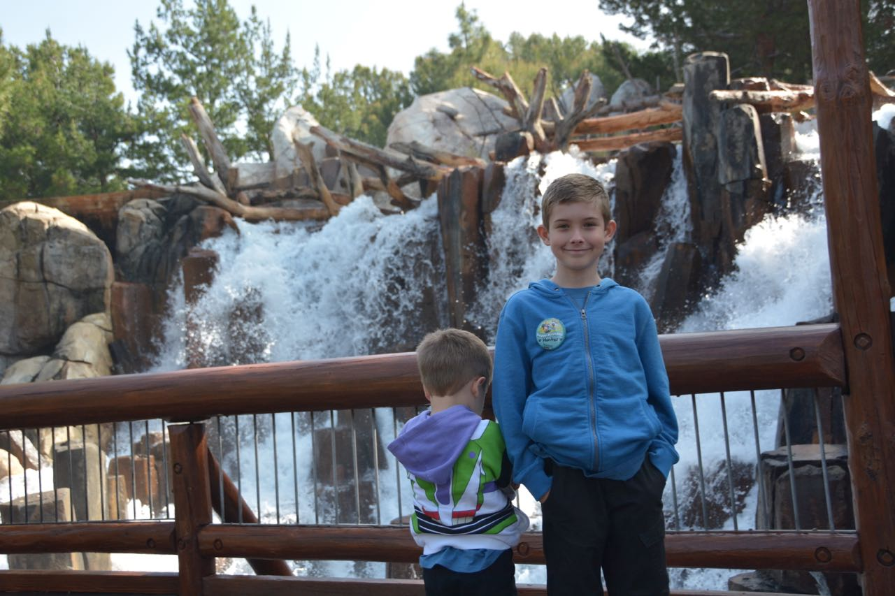 Grizzly River Rapids Waterfall Disney's California Adventure Park