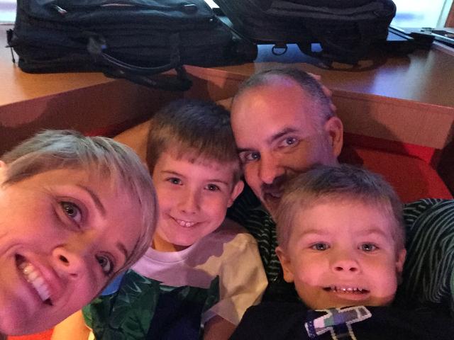 Disney Fantasy Family Selfie