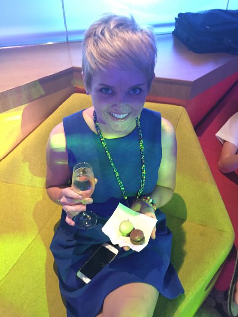 Emily Enjoys her Macarons and Bubbly at the Disney Fantasy DVC Presentation