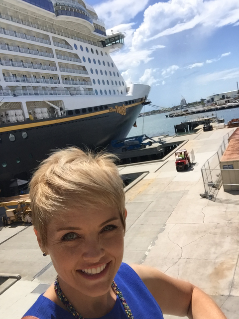 Emily Selfie in Front of Disney Fantasy