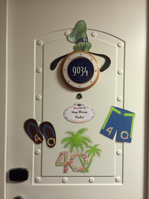 Emily\'s Day 1 Door Decorations - Patrick\'s 40th