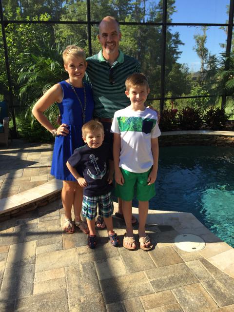 Hayes Family Photo Before Disney Fantasy Cruise