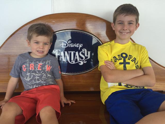 Disney Fantasy Cruise - Deck Four Bench Photo