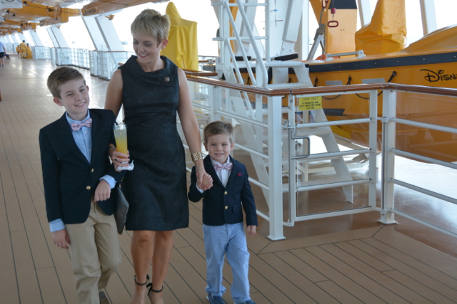 Disney Fantasy Cruise Family Formal Stroll on Deck 4