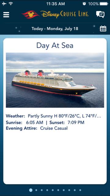 Disney Fantasy Navigator - Day 2 at Sea