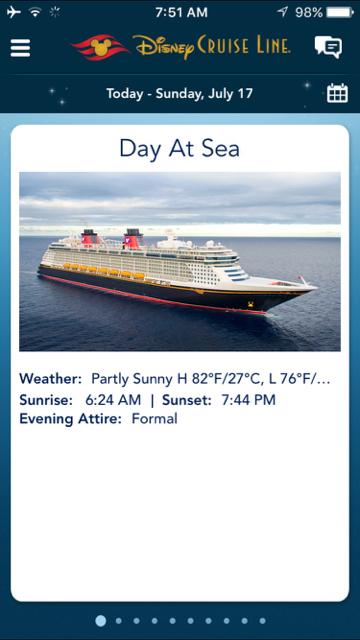 Disney Fantasy Navigator Day at Sea