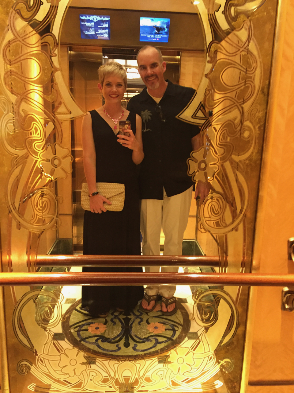 Disney Fantasy Cruise - Elevator Selfie