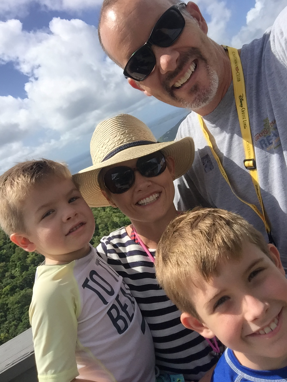 Disney Fantasy Cruise - Tortola Overlook Selfie