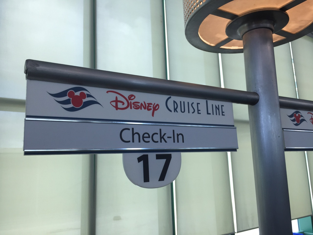 Disney Cruise Line Check-In Sign