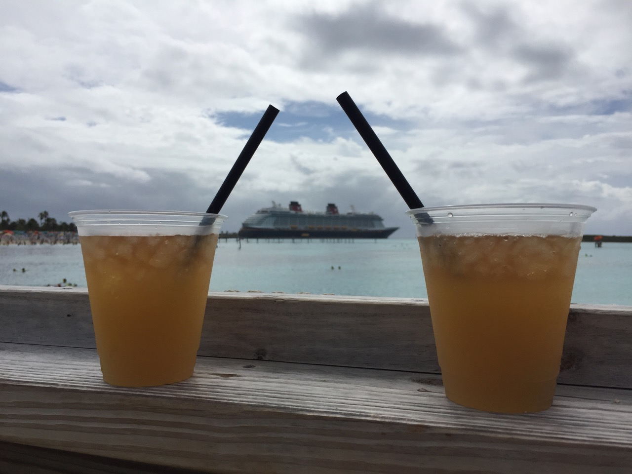 Disney Dream Castaway Cay Head\'s Up Bar Ship View