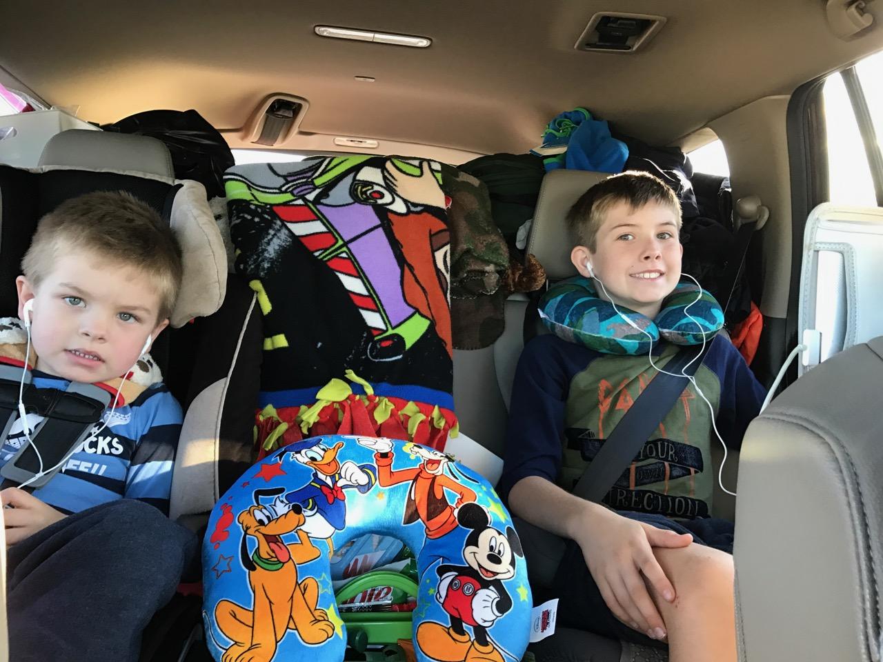 Boys Prepared For Road Trip