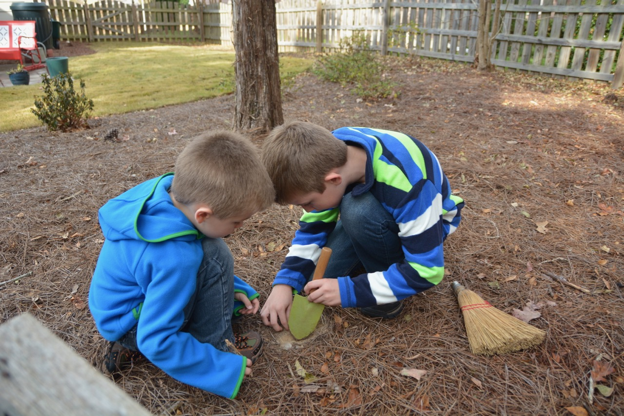 Digging for rocks in Holly Springs, NC