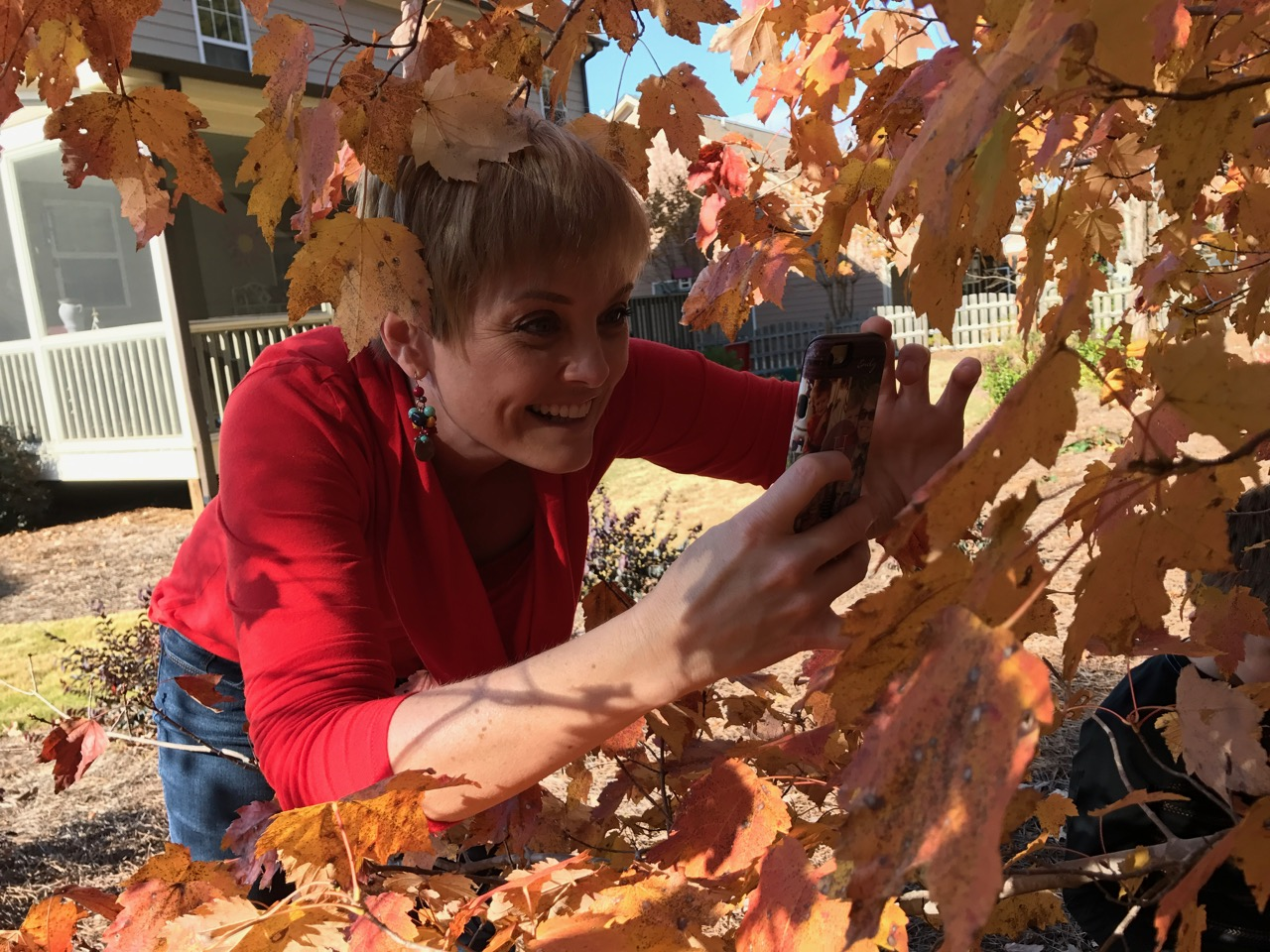 Fall photos in Holly Springs, NC