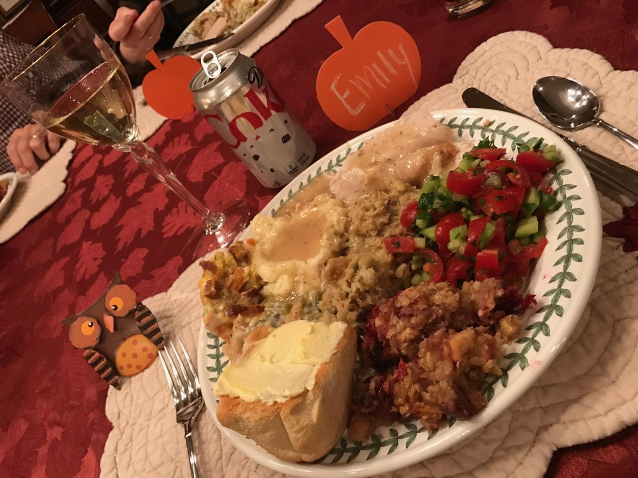 Thanksgiving Dinner 2016 NC