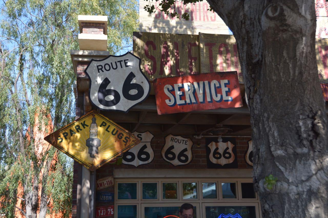 Cars Land Signs Disney's California Adventure Park