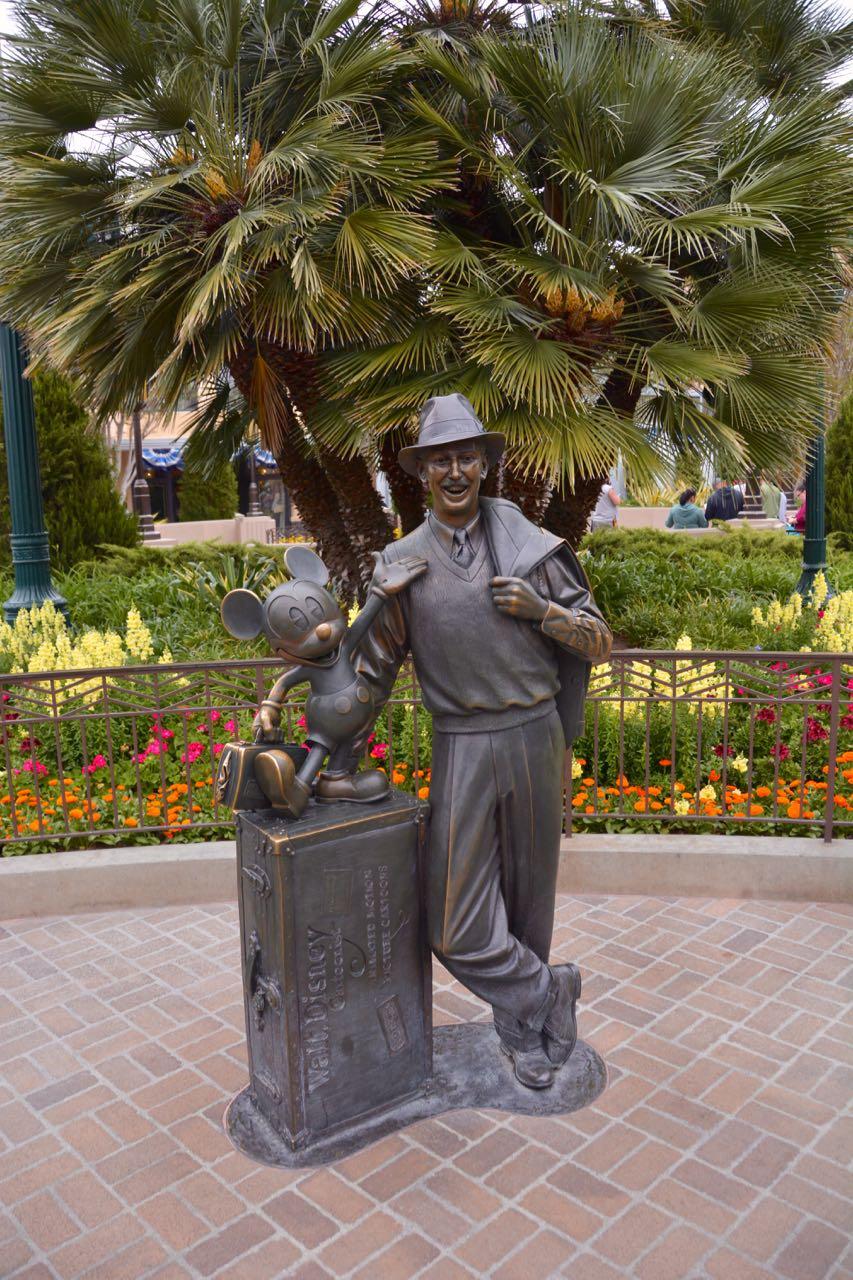 Walt and Mickey Statue Disney's California Adventure
