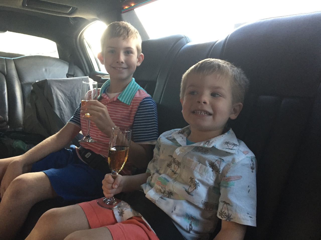 Apple Juice Limo Ride to Disneyland
