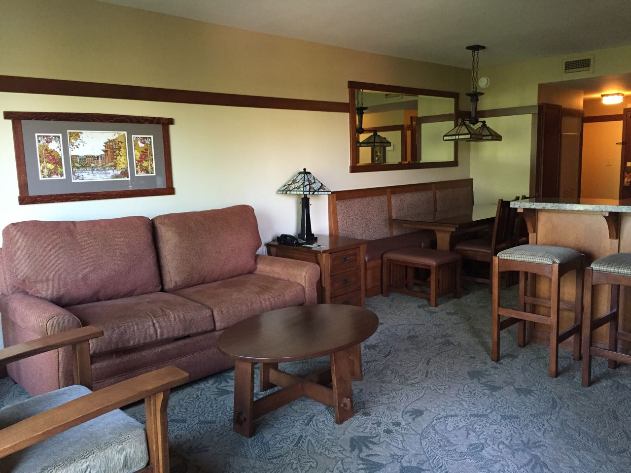 Disney's Grand Californian Hotel One Bedroom Villa Family Room