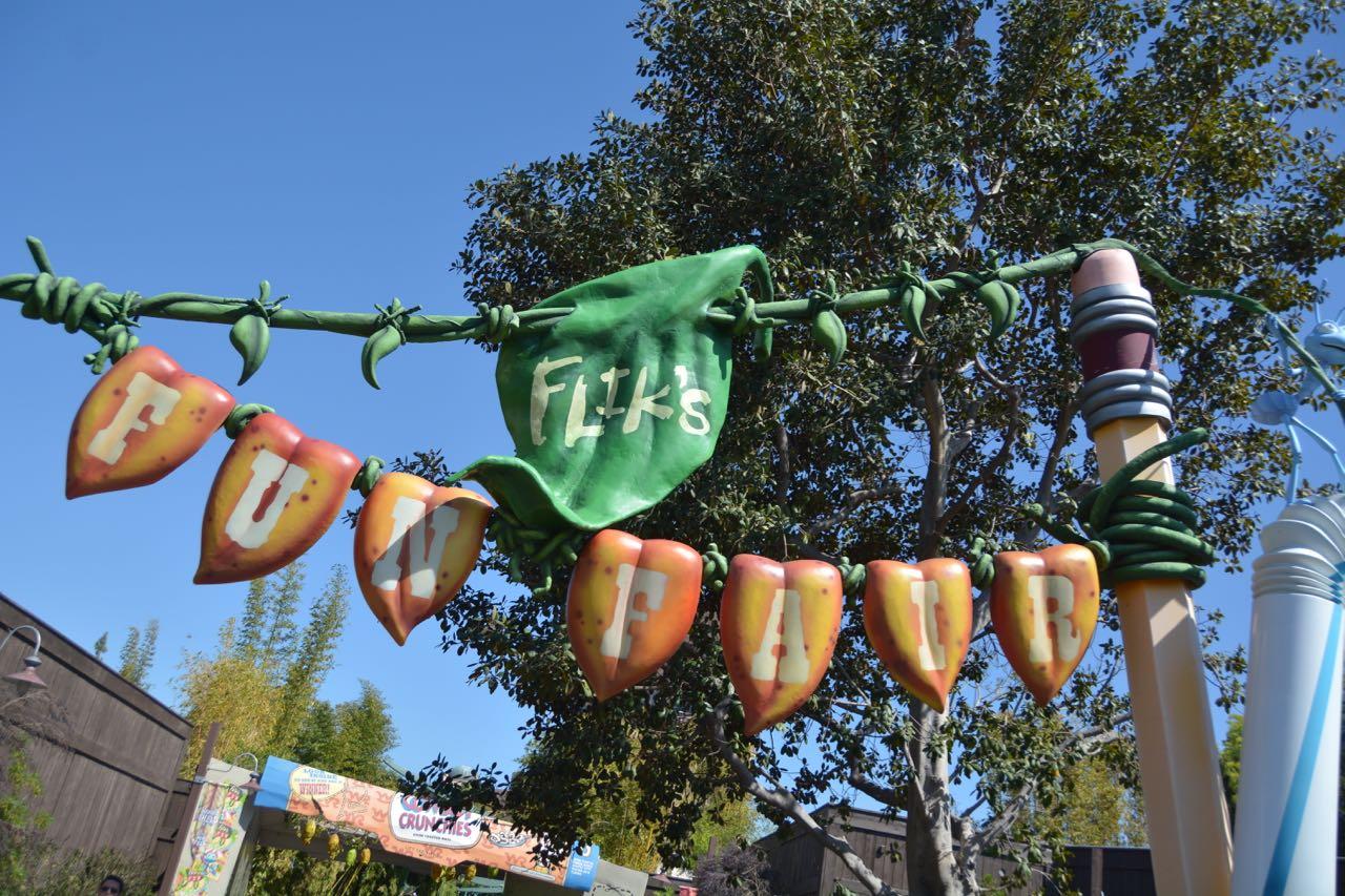 Flik's Fun Fair Sign Disney's California Adventure