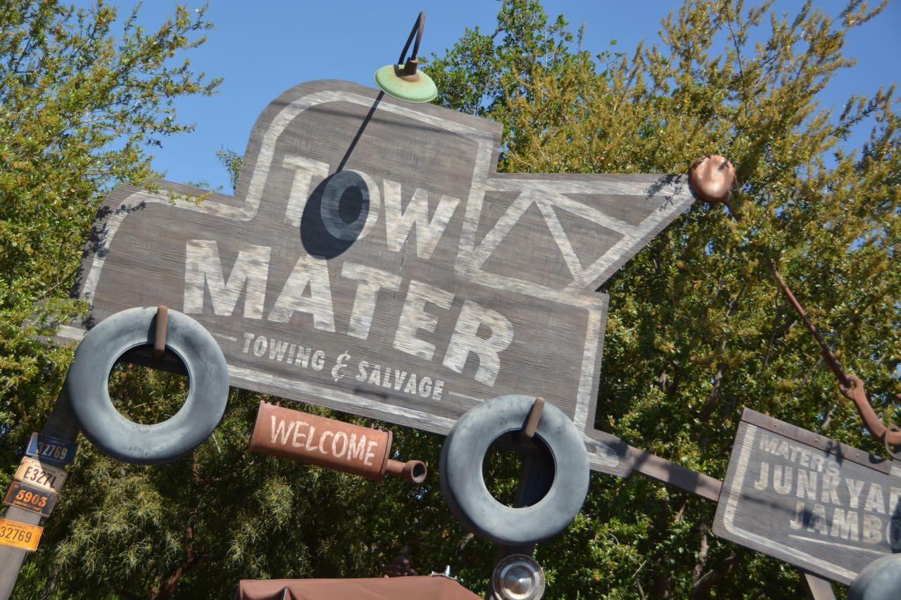 Mater's Junkyard Jamboree Sign Disney's California Adventure