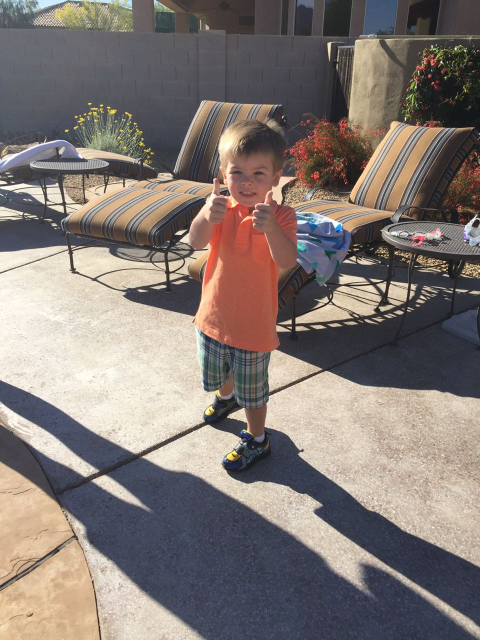 Sawyer Enjoying His Easter Egg Hunt