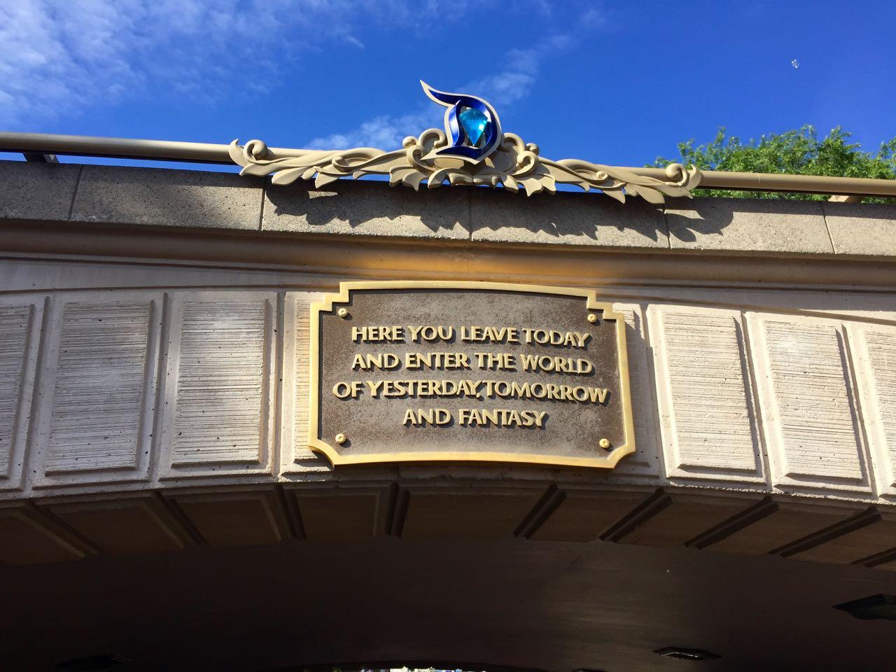 Disneyland Diamond Celebration Sign