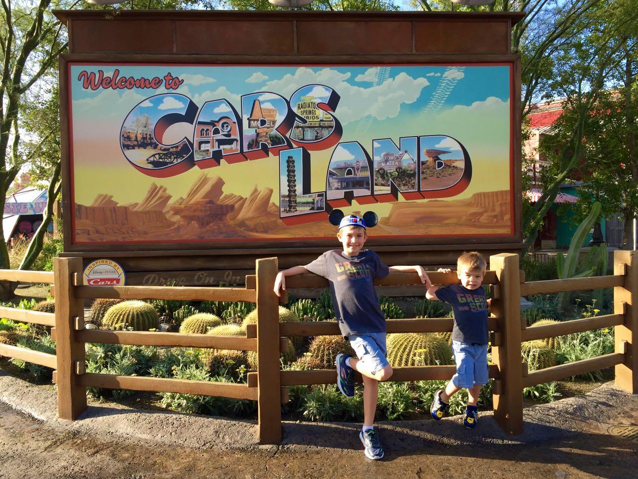Disney\'s California Adventure Park Cars Land Sign