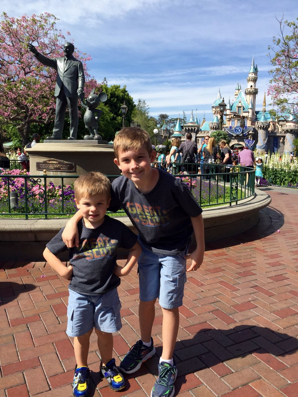 Partners Statue Disneyland Park