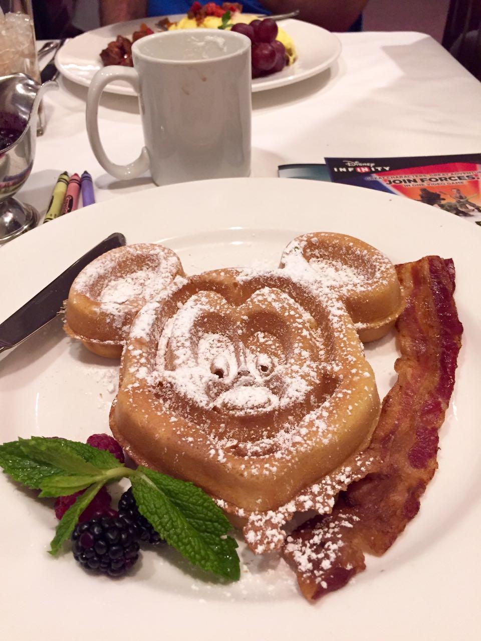 Steakhouse 55 Disneyland Hotel Mickey Waffle