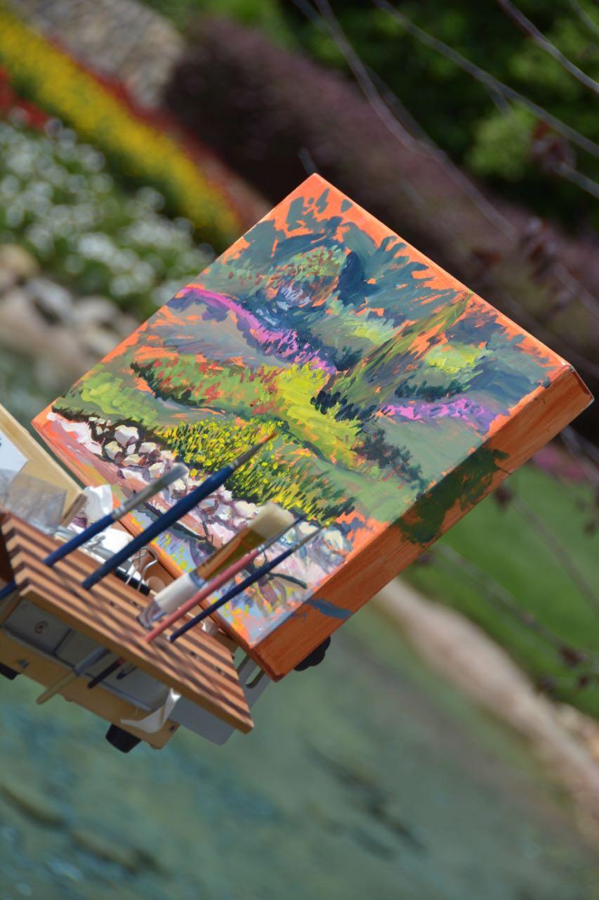 Canada Artwork Epcot Flower & Garden 2016