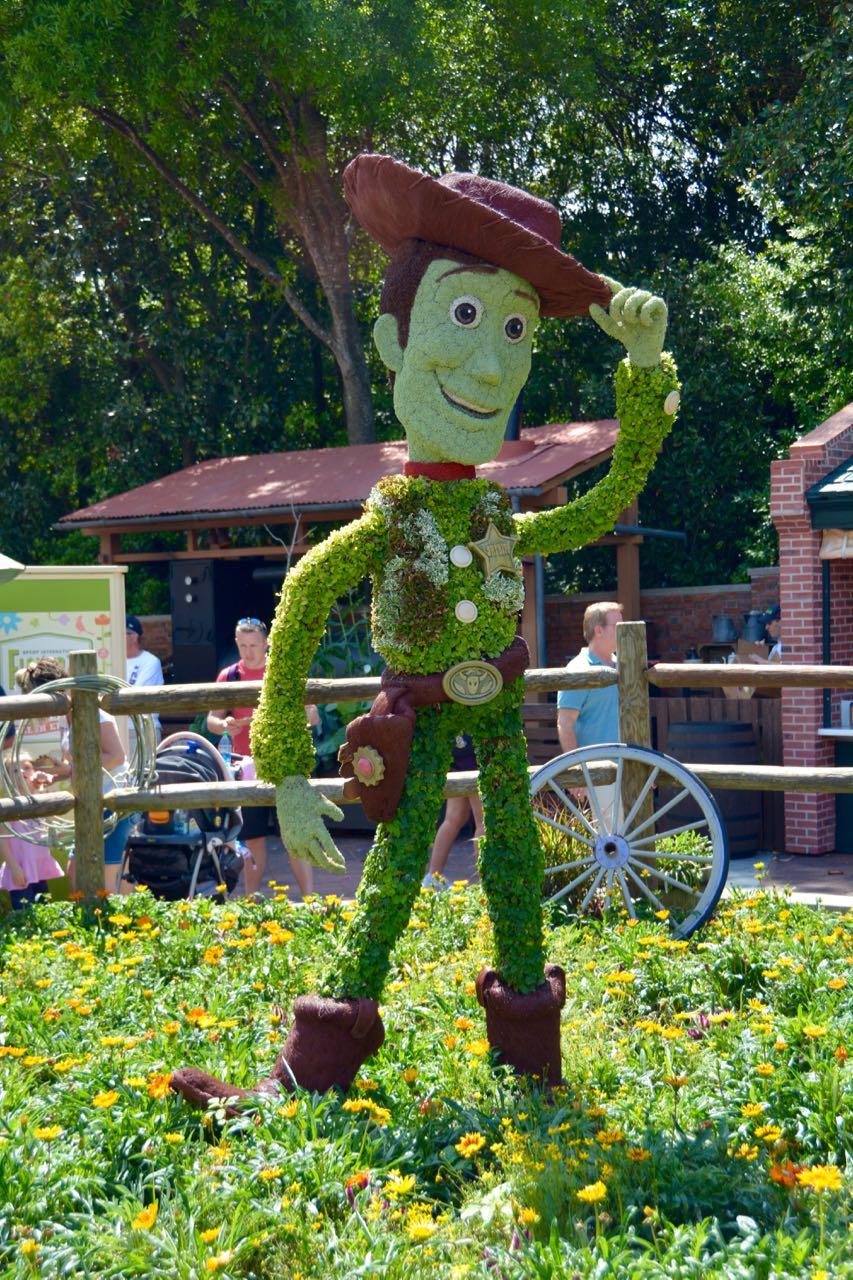 Woody Topiary Epcot Flower & Garden 2016