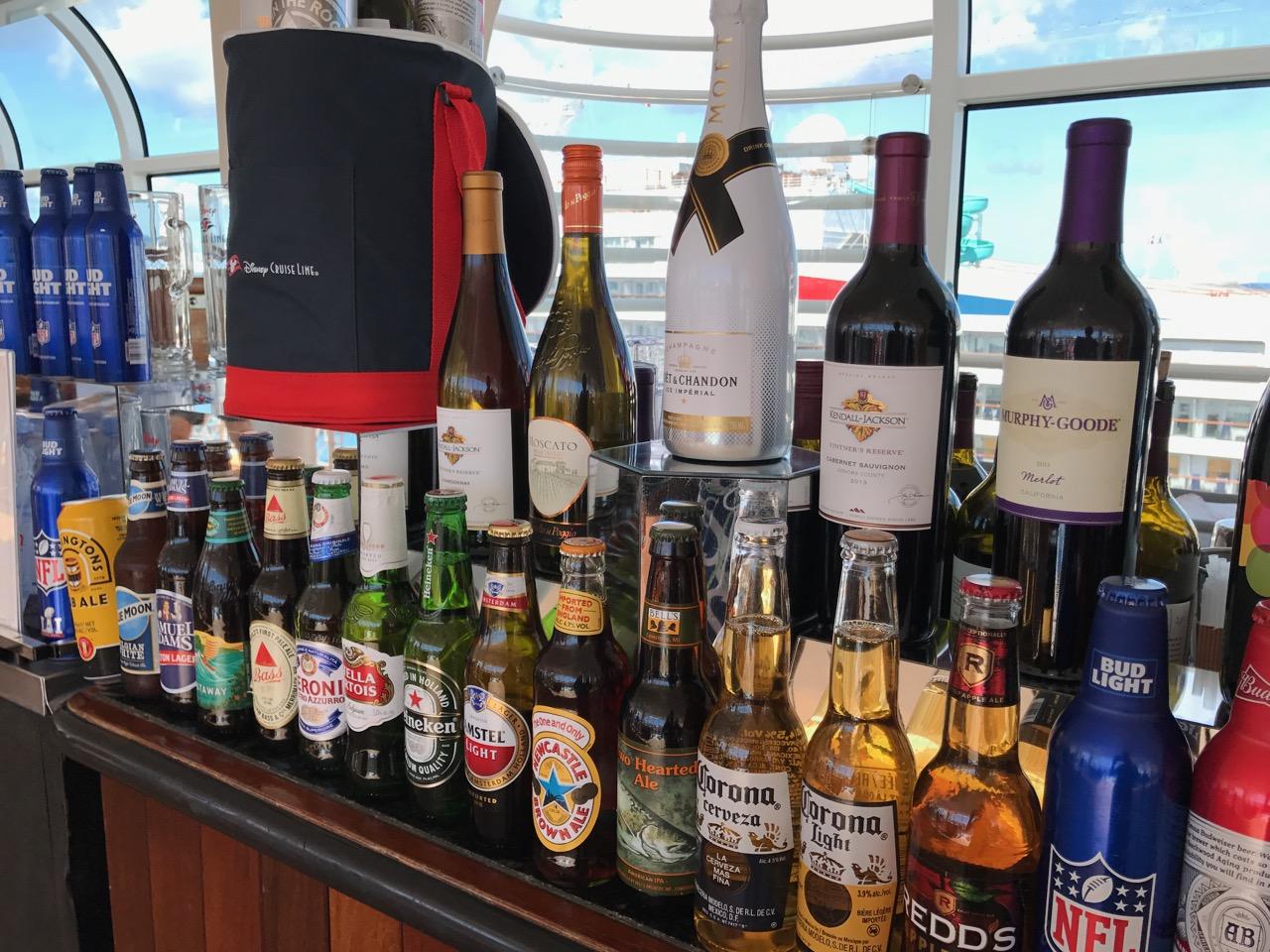 Disney Dream Alcohol Choices
