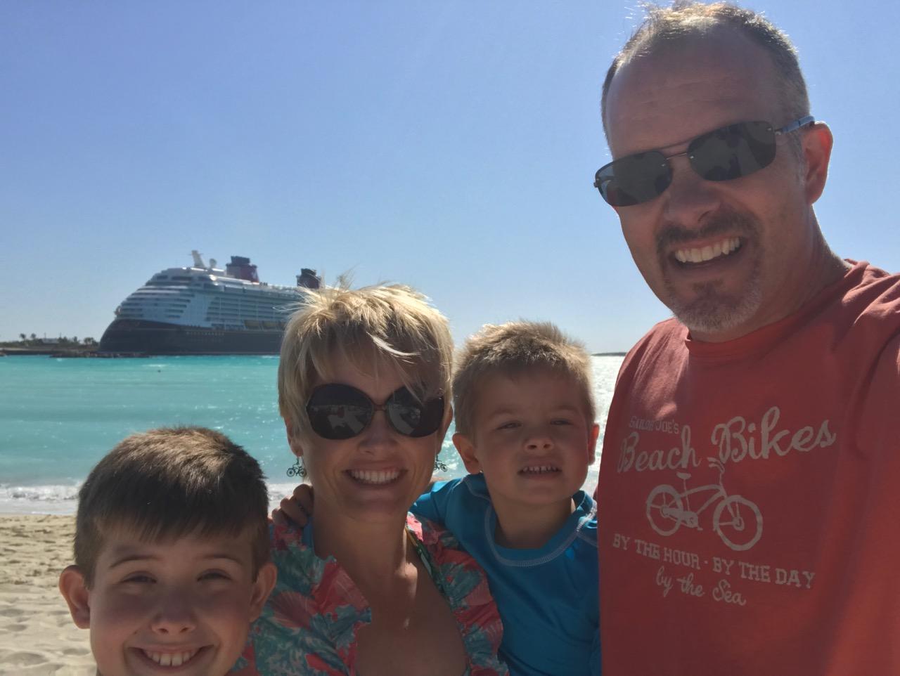 Disney Dream Castaway Cay Beach Selfie