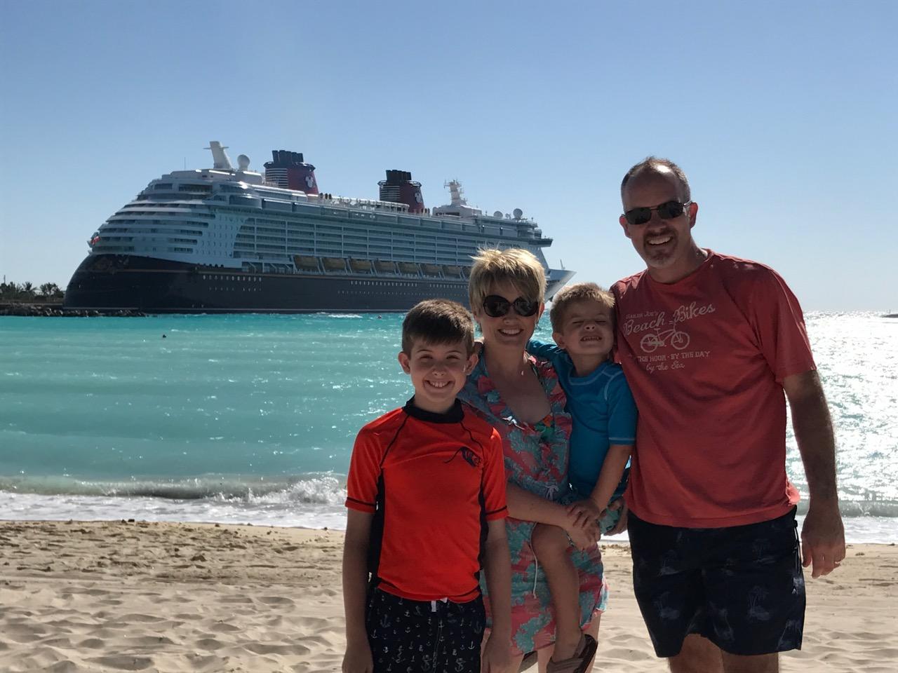 Disney Dream Castaway Cay Beach With Ship