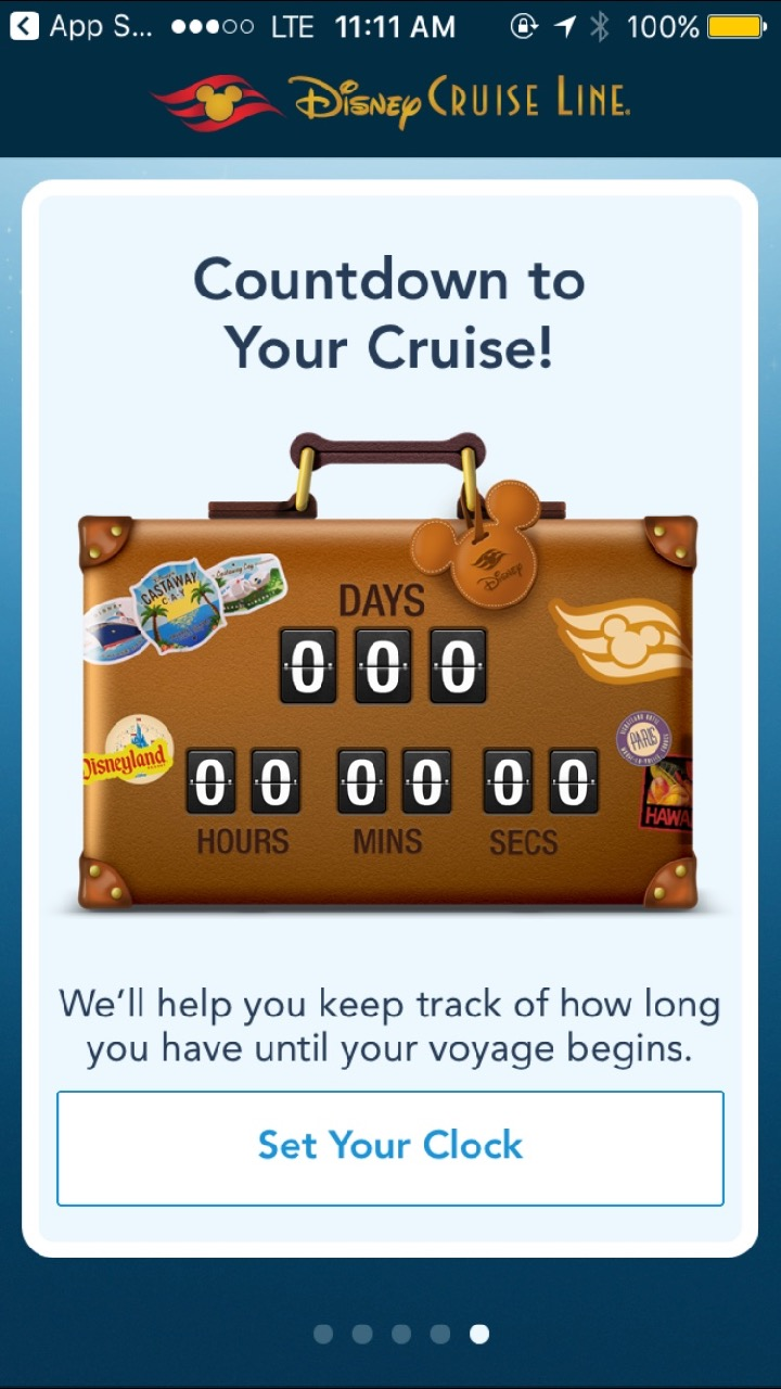 Disney Cruise Line Navigator Count Down