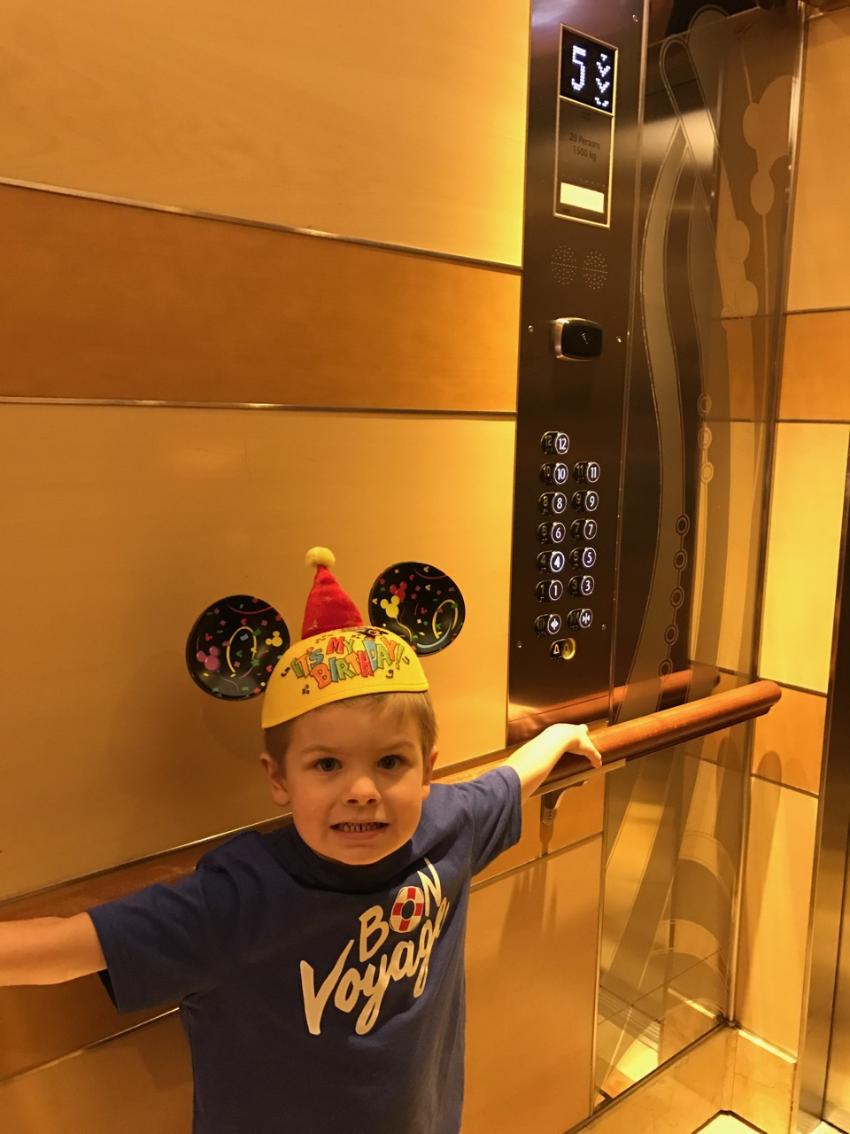 Sawyer\'s Fifth Birthday Elevator Ride