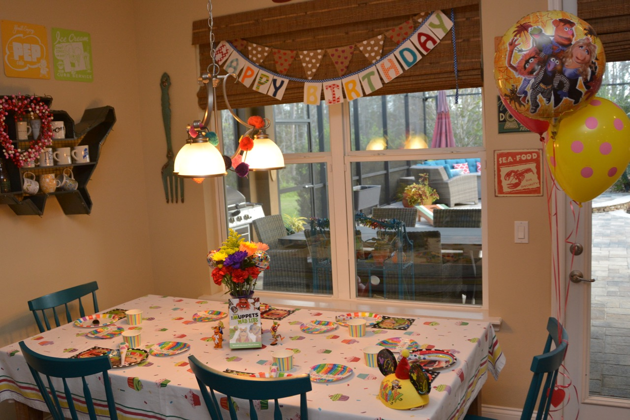 Birthday Table Setup
