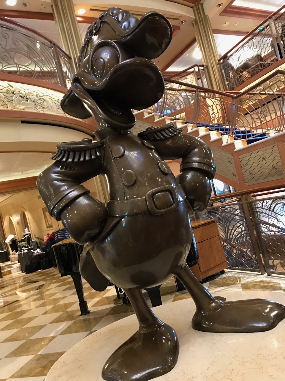 Disney Dream Admiral Donald Statue